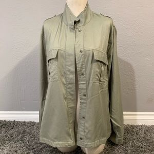 Kensie Jeans green military jacket size XL